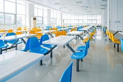 Empty school cafeteria